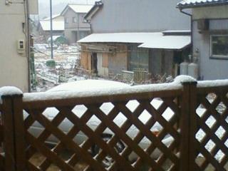 2008/01/13 初の積雪です